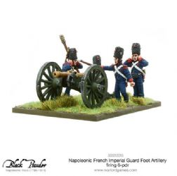 Napoleonic French Imperial Guard Foot Artillery 6-pdr firing