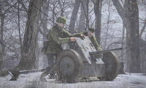 German Pak 36 anti tank gun