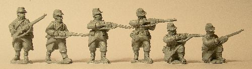 French Infantry Skirmishing in Light Equipment