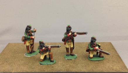 Hessian Jagers skirmishing