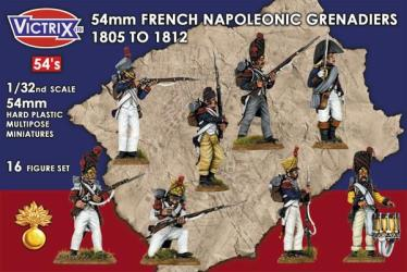 54mm French Napoleonic Grenadiers 1805 - 1812