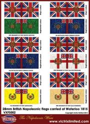 British Napoleonic A4 flag sheet (Waterloo) 1