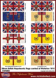 British Napoleonic A4 flag sheet (Waterloo) 2