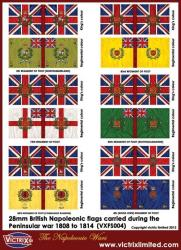 British Napoleonic A4 flag sheet (Peninsular) 1