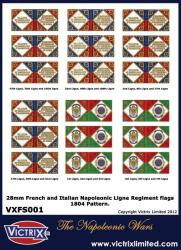 French and Italian A4 1804 issue infantry flags