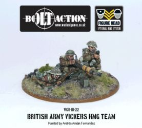 British Vickers HMG Team