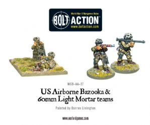 US Airborne Bazooka and 60mm light mortar teams