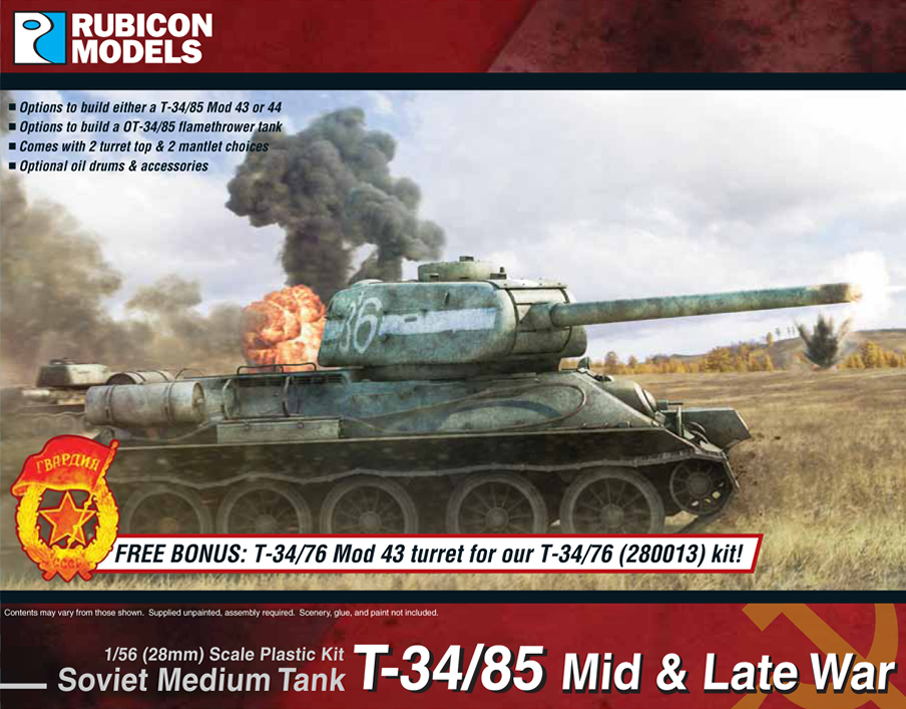 T34/85 Mid & Late War