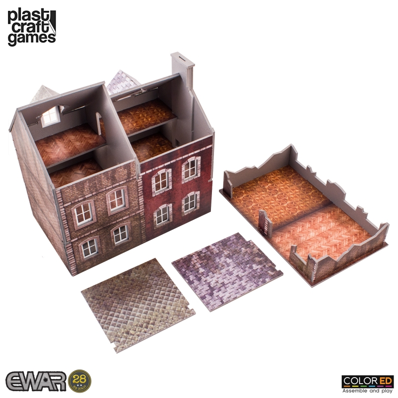 Semi-detached Building (Pre-Painted Playable Brick Building)