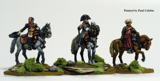 Napoleon and Staff Mounted - Metal