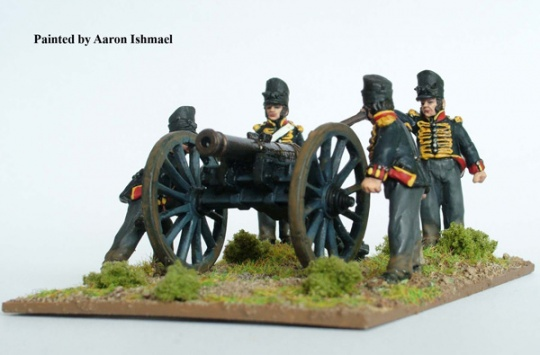 British foot Artillery firing 9 pdr - Metal