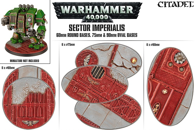 Sector Imperialis: 60mm Round & 75/90 Oval Bases