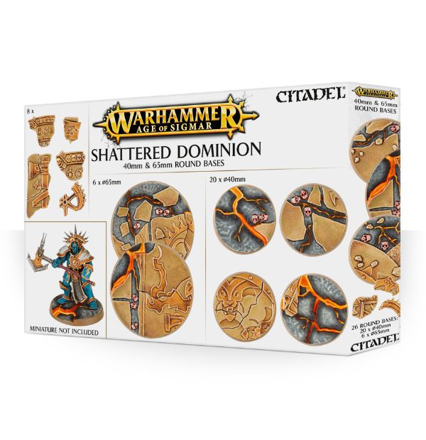 Shattered Dominion 40mm & 65mm Round Bases