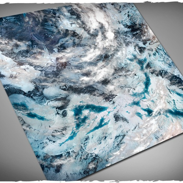 Orbital Snowfields 4x4 Mouse pad mat