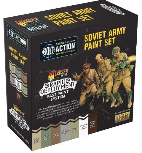 Bolt Action Soviet Paint Set - 25% Off Black Friday