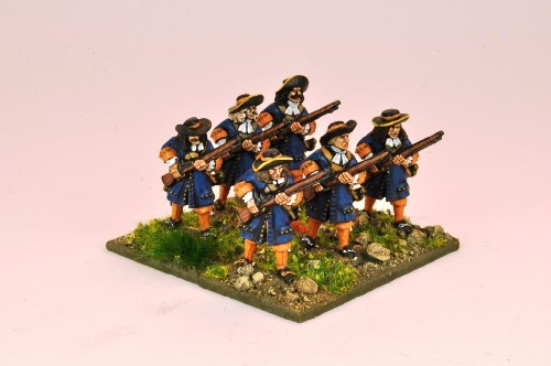 Musketeers with Flintlocks at the ready
