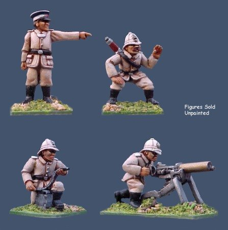 German Seebatallion Maxim Gun crew
