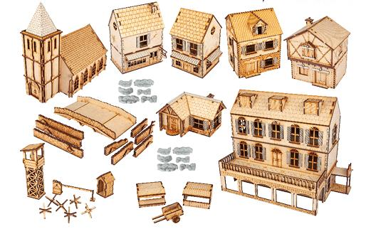 Bolt Action Rural Village Set (MDF)