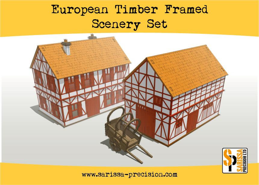 European Timber Frame Scenery Set - 25% Off Black Friday