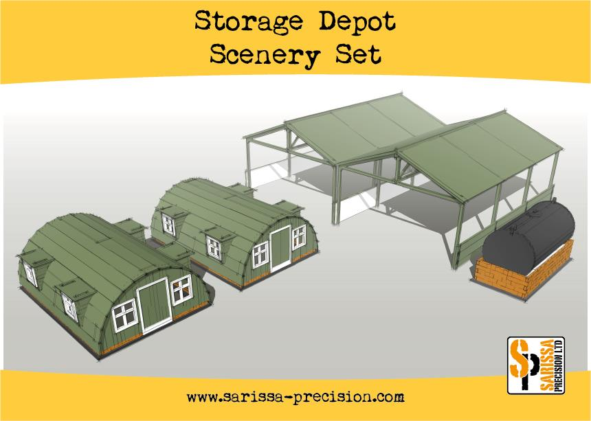 Storage Depot Scenery Set