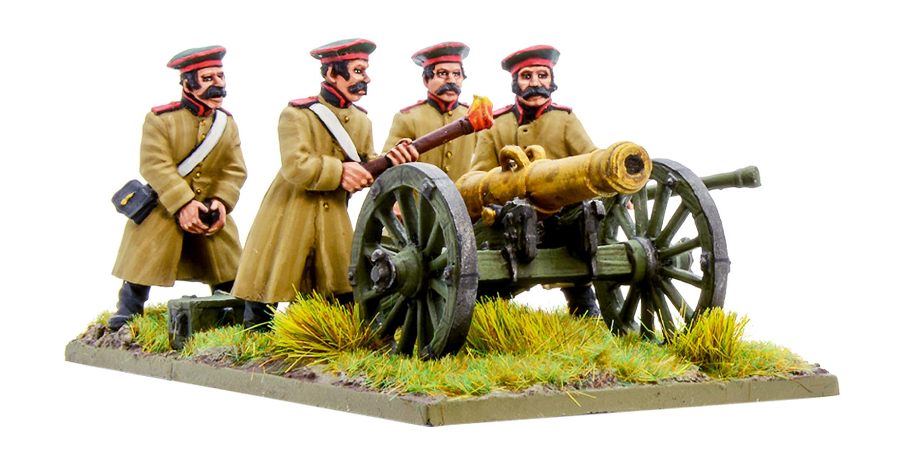 Crimean War Russian Foot Artillery with 12-pdr Cannon