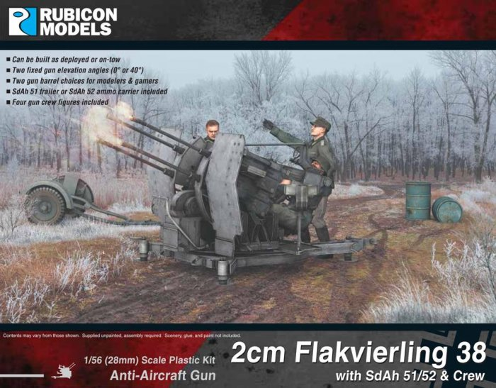 2cm Flakvierling 38 with SdAh 51/52 with Crew