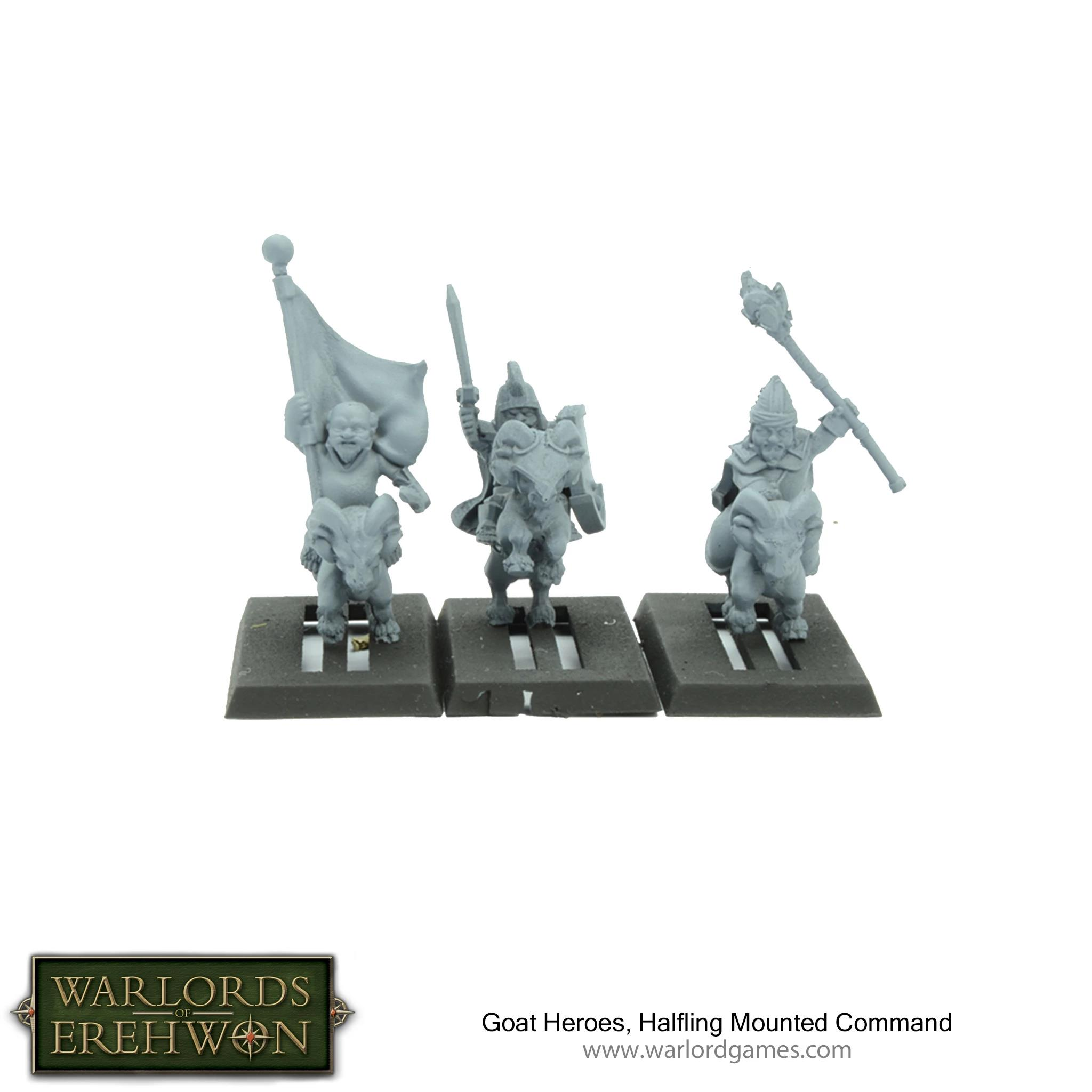 Halfling Goat Heroes, Mounted Command