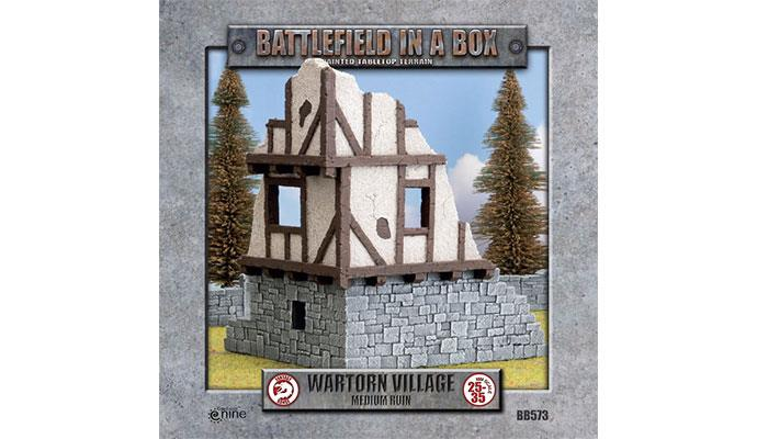 Wartorn Village Medium Ruin (28mm scale)
