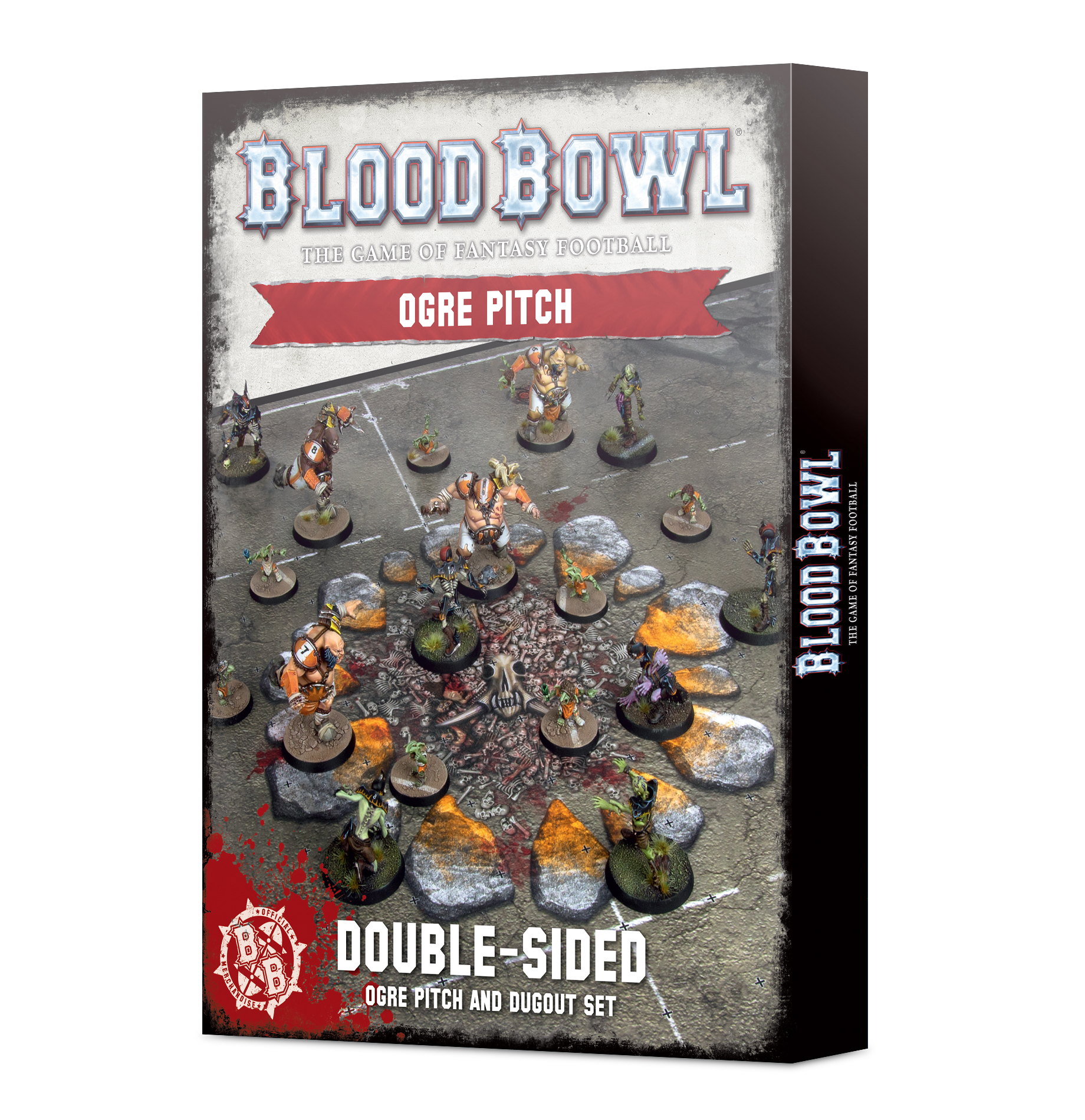 Blood Bowl Ogre Team Pitch & Dugouts