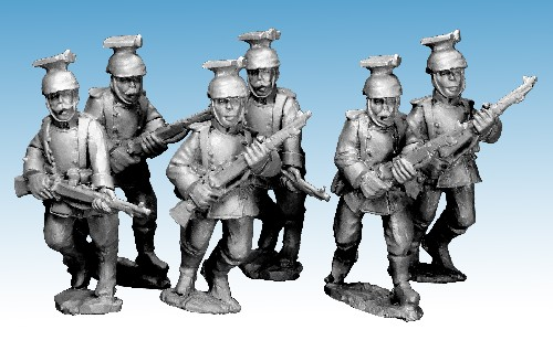 Dismounted German Uhlans