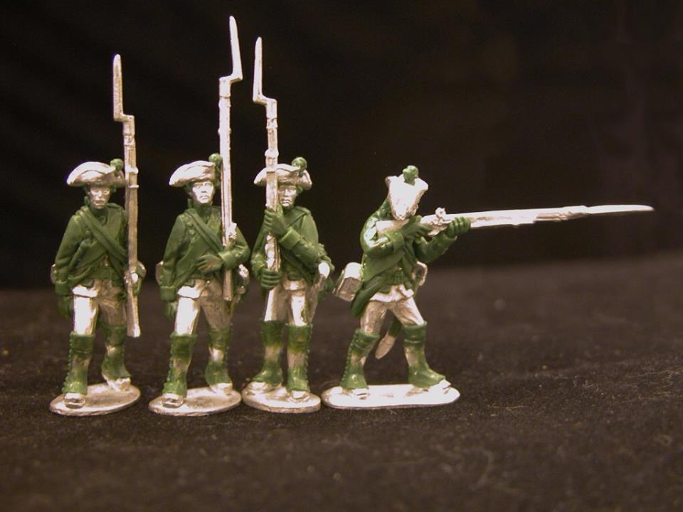 Hessian musketeer marching