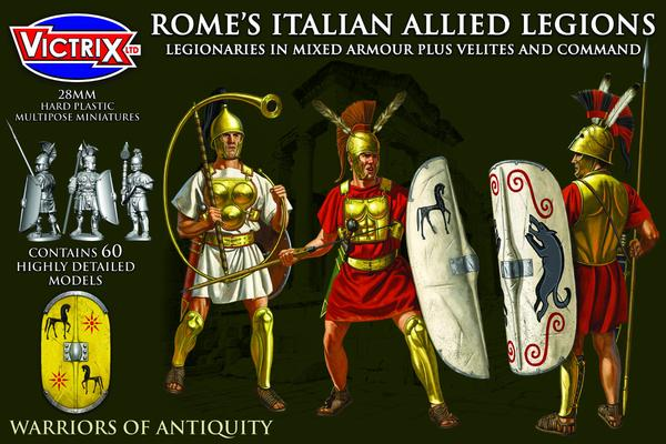Romes Italian Allied Legions. Legionaries in mixed armour plus Velites and Command