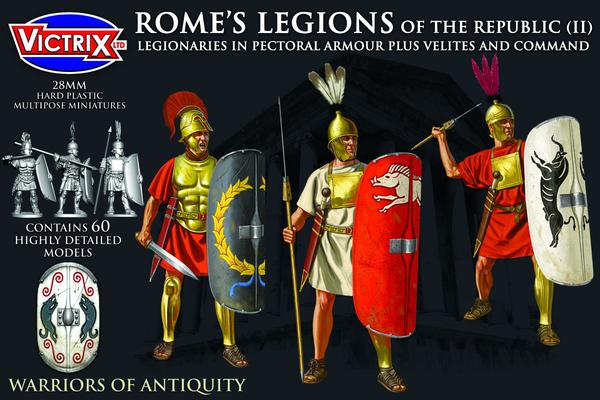 Rome's Legions of the Republic (II) in pectoral armour plus Velites and Command