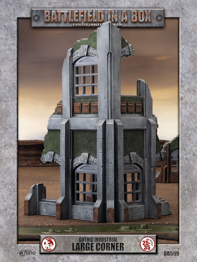 Gothic Industrial - Large Corner (x1) - 30mm