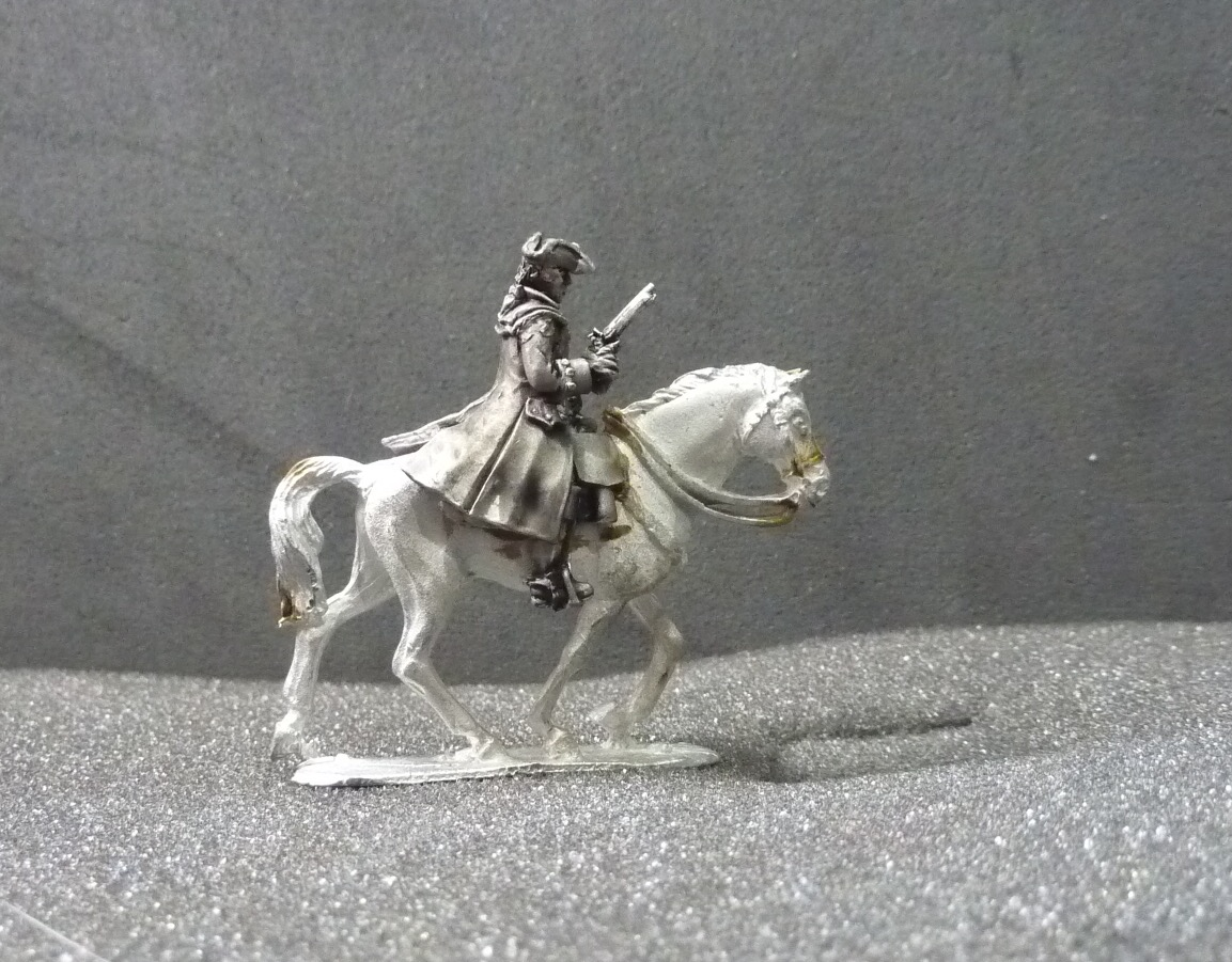 Mounted Officer/ADC in overcoat with pistol