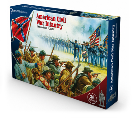 American Civil War Infantry plastic boxed set