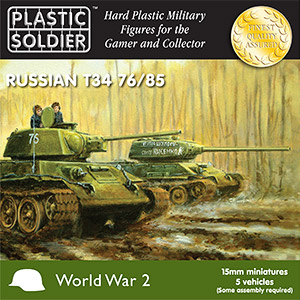 15mm WW2 Russian T34/85 Tank