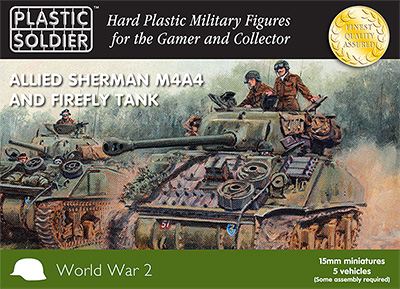 15mm WW2 Allied M4A4 and Firefly Sherman Tank