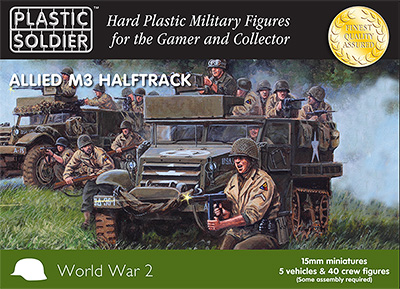 15mm WW2 Allied M3 Halftrack