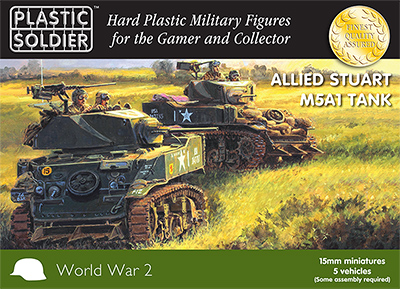 15mm WW2 Allied M5A1 Stuart Tank