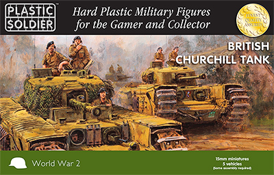 15mm WW2 British Churchill Tank