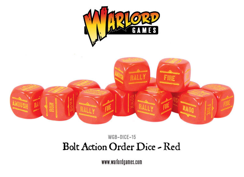 New style: Bolt Action Orders Dice packs - Red