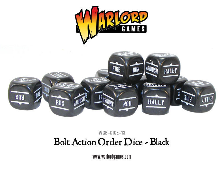 New style: Bolt Action Orders Dice packs - Black