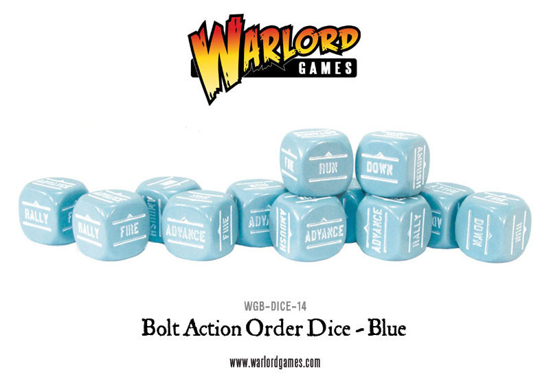 New style: Bolt Action Orders Dice packs - Blue