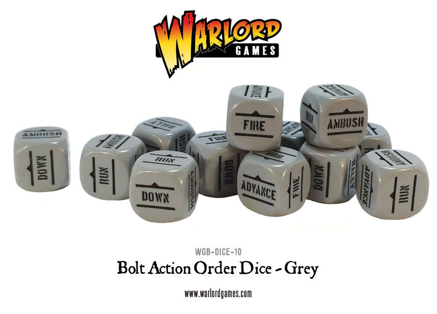 New style: Bolt Action Orders Dice packs - Grey