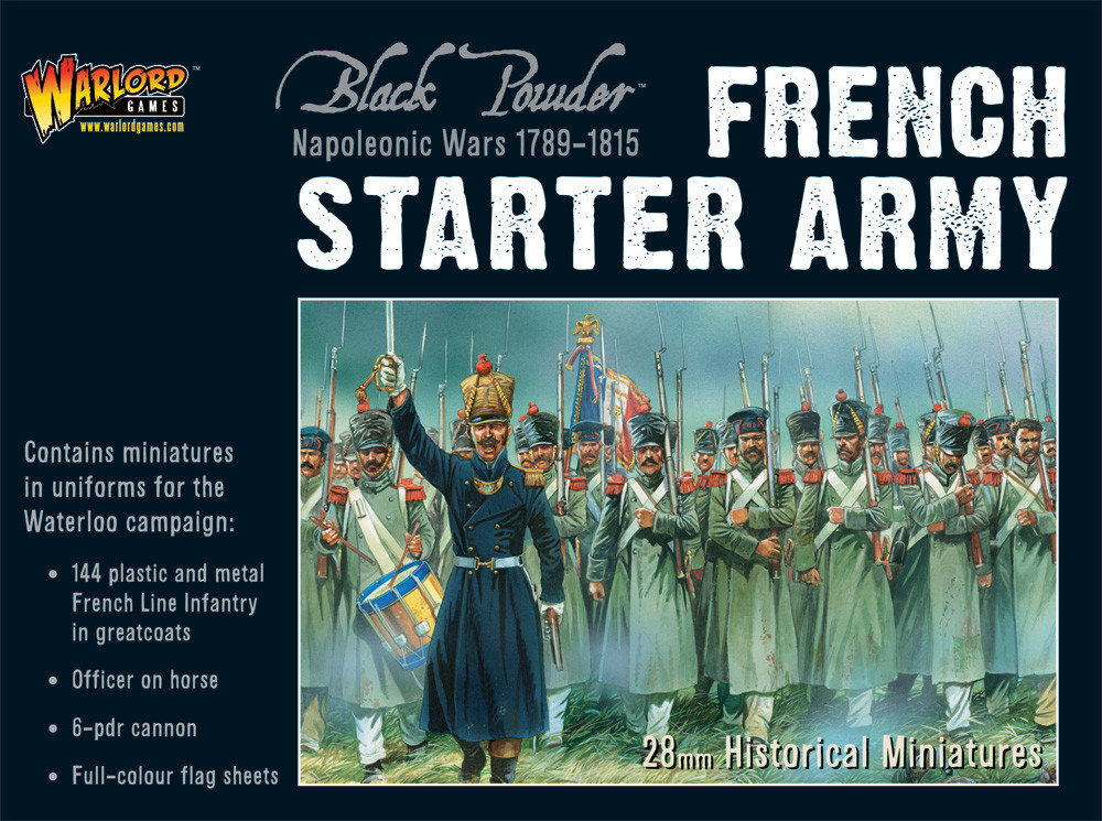 Napoleonic French (Waterloo) Starter Army boxed set