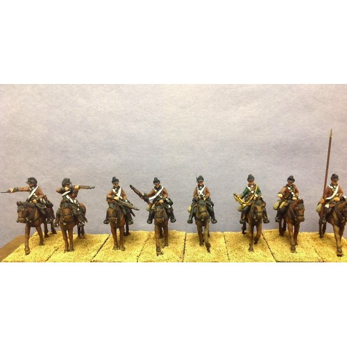 1st Continental Dragoons with rested carbine