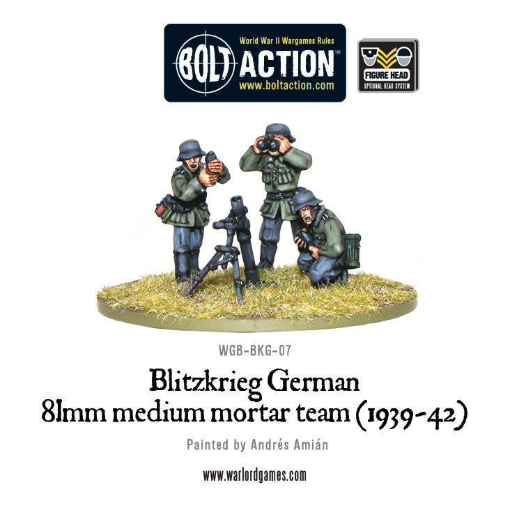 Blitzkrieg German 81mm medium mortar team (1939-42) 25% Off Black Friday
