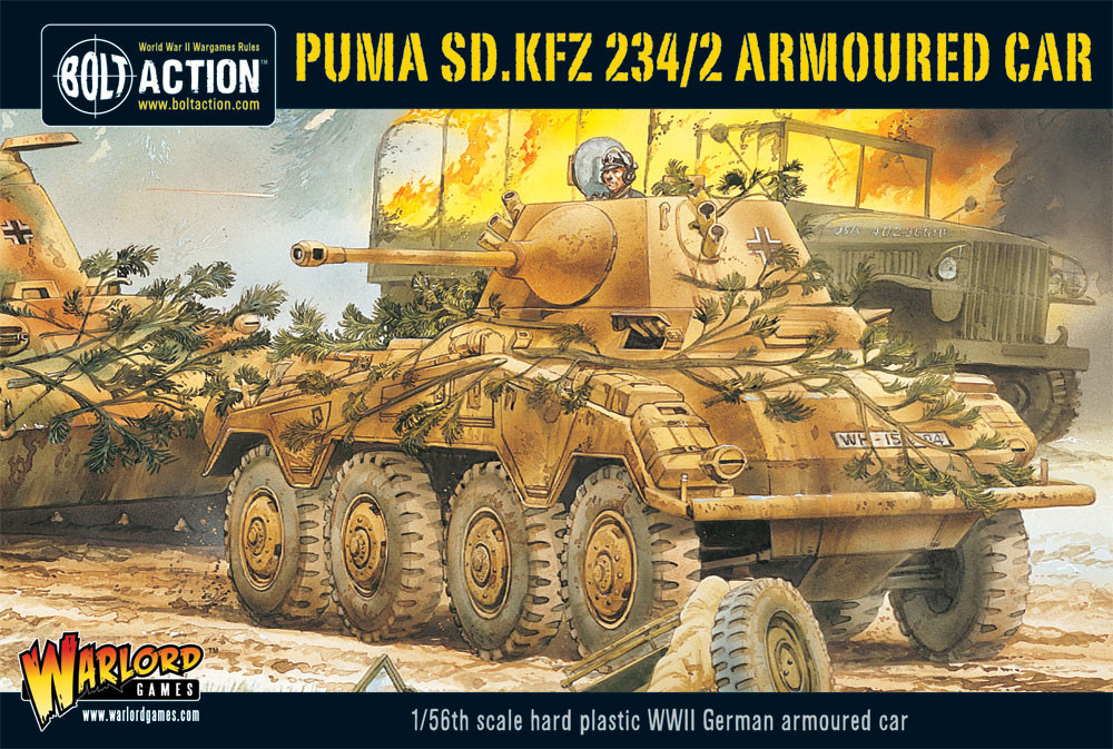 Puma Sd.Kfz 234/2 Armoured Car (Plastic)