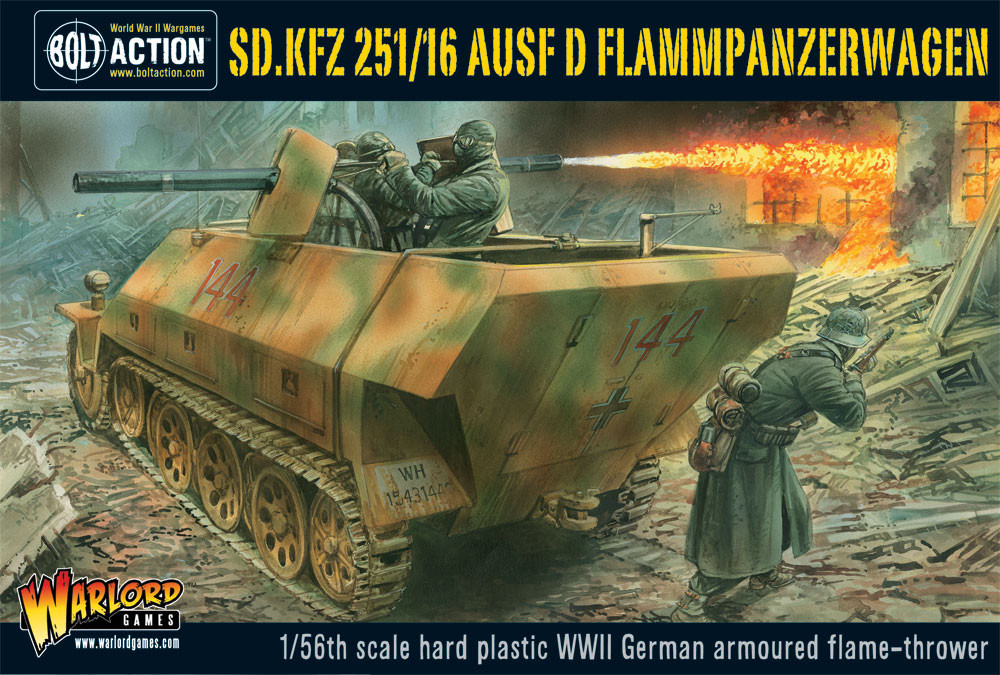 Sd.Kfz 251/16 Flammpanzerwagen plastic box set